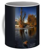Ducks On Ice Coffee Mug
