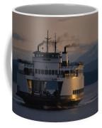 Early Morning Ferry Leaves Seattle Coffee Mug