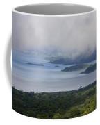 Early Morning Fog Rises Over Lake Coffee Mug