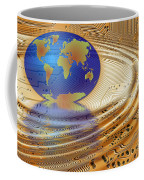 Earth In The Printed Circuit Coffee Mug by Michal Boubin
