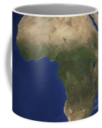 Earth Showing Landcover Over Africa Coffee Mug by Stocktrek Images