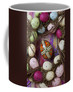 Easter Egg With Wreath Coffee Mug
