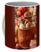 Easter Eggs In Flower Pot Coffee Mug