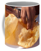 Eating By Hand The Indian Delicacy Of Chole Bhature Coffee Mug