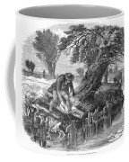 Eel Fishing, 1850 Coffee Mug