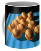 Eggs On Blue Lit Through Venetian Blinds Coffee Mug