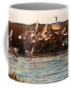 Egret And Ibis Party Coffee Mug