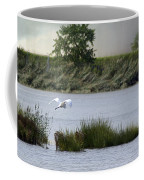 Egret Over Water Coffee Mug