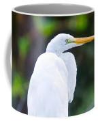 Egret Preening Coffee Mug