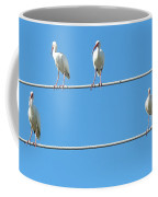 Egrets On A Wire Coffee Mug