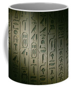 Egyptian Hieroglyphics Decorate Coffee Mug