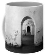 El Morro Fort Barracks Arched Doorways San Juan Puerto Rico Prints Black And White Coffee Mug
