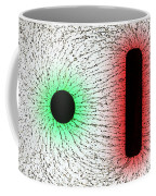 Electrostatic Field Lines Unlike Charges Coffee Mug