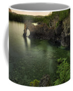 Elephant Rests In The Green Lagoon   Coffee Mug