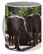 Elephants At The Pittsburgh Zoo Coffee Mug by Stacy Gold