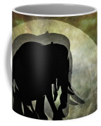 Elephants On Moonlight Walk 2 Coffee Mug