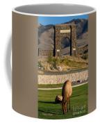 Elk At Yellowstone Entrance Coffee Mug