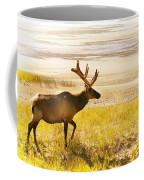 Elk Wanders On Yellow Landscape Coffee Mug
