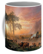 Emigrants Crossing The Plains Coffee Mug by Photo Researchers
