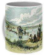 Emigrants In Nebraska, 1859 Coffee Mug by Granger