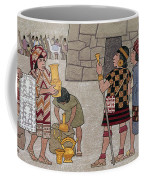 Emissaries Bring Tribute To Inca Coffee Mug by Ned M. Seidler