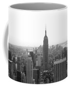 Empire State Building In Black And White Coffee Mug