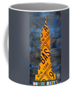 Empire State Building Nyc License Plate Art Coffee Mug