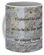 Employee Service Anniversary Thank You Card - Cement Wall Coffee Mug