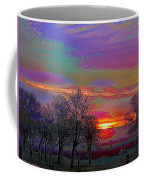 Enameled Sunrise Of Northern California Coffee Mug