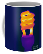 Energy Efficient Fluorescent Light Coffee Mug