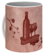 Enjoying Red Wine  Painting With Red Wine Coffee Mug