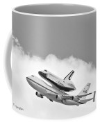 Enterprise Shuttle Over Ny Coffee Mug by Regina Geoghan