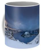 Enveloping Storm At Crater Lake Coffee Mug