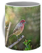 Evening Finch Greeting Card With Verse Coffee Mug