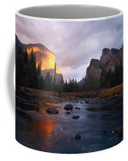 Evening Sun Lights Up El Capitan Coffee Mug