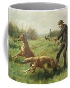 Exercising Greyhounds Coffee Mug