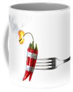 Explosive Food Coffee Mug by Carlos Caetano