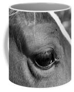 Eye Of The Horse Black And White Coffee Mug