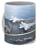 Fa-18 Aircraft Prepare To Take Coffee Mug
