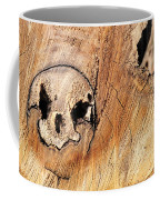 Face In The Wood Coffee Mug