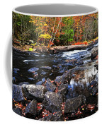 Fall Forest And River Landscape Coffee Mug