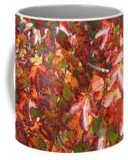 Fall Leaves - Digital Art Coffee Mug