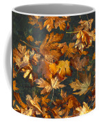 Fall Maple Leaves On Water Coffee Mug