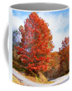 Fall Tree By The Road Coffee Mug