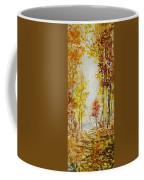 Fall Tree In Autumn Forest  Coffee Mug