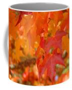 Fall Tree Leaves Art Prints Orange Red Autumn Coffee Mug