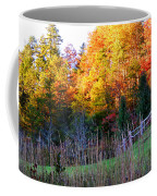 Fall Trees And Fence Coffee Mug