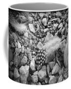Fallen Feathers Black And White Coffee Mug