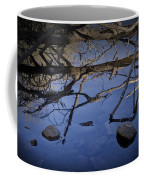 Fallen Tree Trunk With Reflections On The Muskegon Rive Coffee Mug