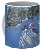Falling Off The Sledge Coffee Mug